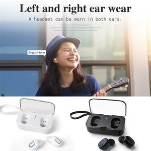 Image 2 - 블루투스 5.0 이어폰 tws 무선 헤드폰 블루투스 이어폰 핸즈프리 헤드폰 스포츠 이어 버드 게임용 헤드셋 폰