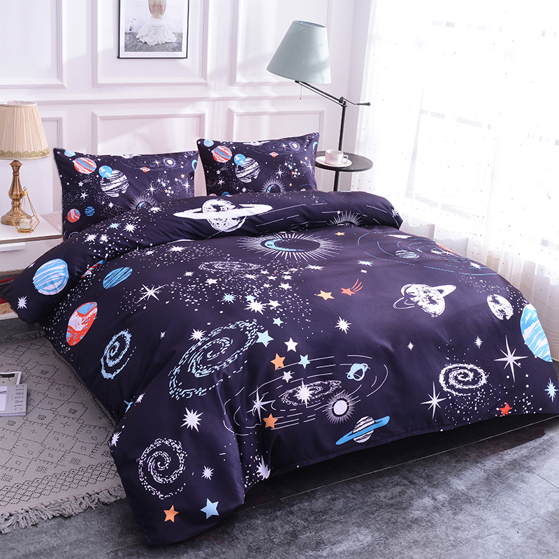 Planet Bedding Sets Bed Home Textiles 3D Design Digital Printing Bedding Set Duvet Cover Pillowcase Bedclothes Dropshipping