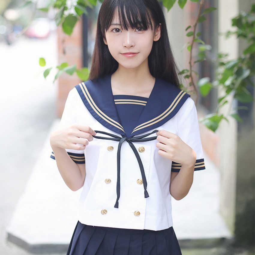 High School Uniformสไตล์ญี่ปุ่นSailor Animeกระโปรงเกาหลีสไตล์ญี่ปุ่นAcademic DressสำหรับสตรีJK Navy Kawaiiสาว