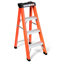 Tray Step-Stool Folding Ladder 3 Platform Aluminium-Alloy-Material Home-Furniture Sturdiness