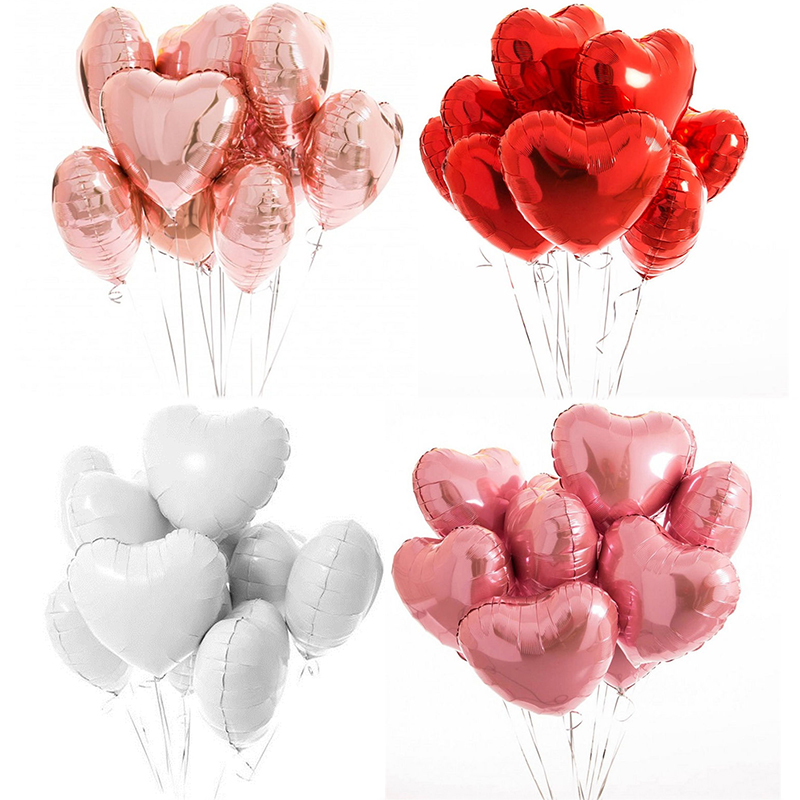 Lámina de Aluminio Globo De Helio Globos De Papel De Aluminio Amor Aniversario Día de San Valentín Decoración