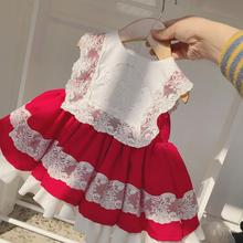 12M-10T Summer Spanish Baby Dress Lace Stitching Sleeveless Ball Gown Birthday Party Easter Eid Lolita Dresses For Girls Y2687