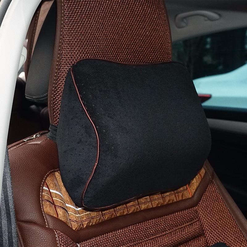 Car Lumbar Cotton Headrest Neck Pillow To Comfort Lower Back Pain 9