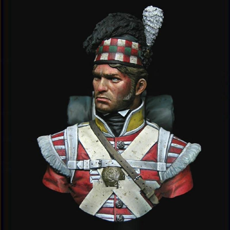 1/10 Bust Resin  Miniatures Waterloo Ninety-second Infantry Resin Figure X124