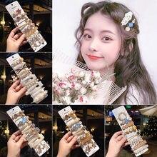 Koreańska dziewczyna perła szpilka spinki do włosów dla kobiet Alloy Hairclip Trendy szpilka biżuteria kobiece włosy Stick prezenty akcesoria do włosów