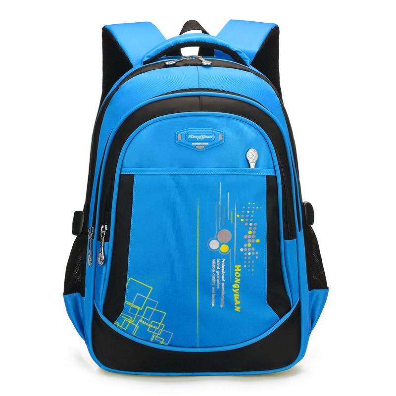 Hong Yuan New Style High Quality Children Schoolbag For Elementary School Students Burden Relieving Backpack School Bag 6-12-Yea