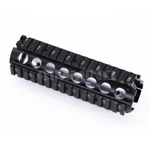 cnc picatinny quad trilhos handguard 20mm 4 sistema de montagem trilho