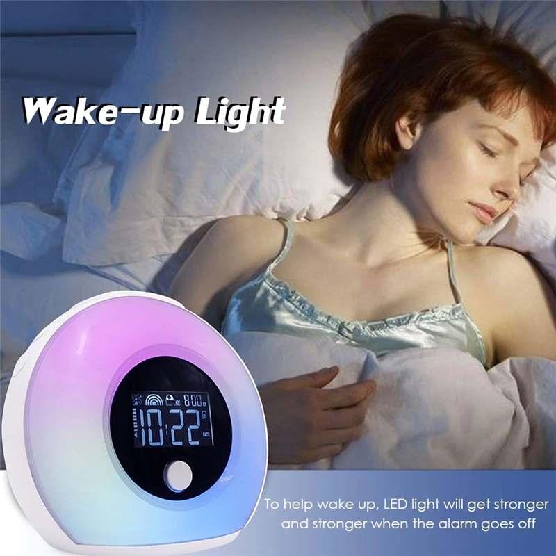 5 Вт Светодиодный умный сенсорный Ночной светильник Будильник Зарядка через usb цветной bluetooth музыкальный динамик с ЖК цифровым дисплеем времени Рабочий стол - 6