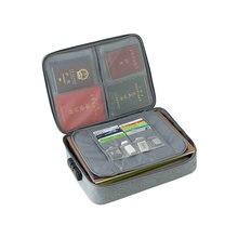 パスワードオフィスバッグ多目的ブリーフケースポリエステルA4 文書ポーチ防水ビジネス旅行トートバッグ
