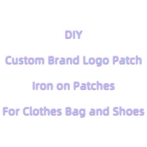 Fashion Brand Logo Patches for Clothing DIY Heat Cute Patch Stickers Sew Iron on Transfer Letter Clothes Embroidered Applique