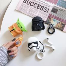 Airpods cute cartoon earmuffs Apple Bluetooth headset protective case Interesting silicone earphone soft