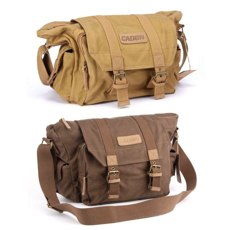 Waterproof Canvas Camera Shoulder Bag Sling Photo Video Soft Bag Pack Travel Camera Protective Cases For DSLR Canon Nikon Sony