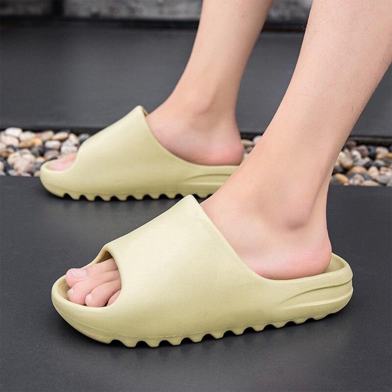 2021 nowe męskie kapcie kryty domu lato plaża Ourdoor slajdy damskie kapcie platformy muły buty kobieta mieszkania Zapatos De Mujer|Kapcie|   -