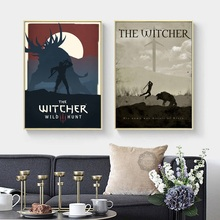 Modern Simple Game Witcher 3 Canvas Painting Art Print Image Poster Wall Decoration Murals Boy Home