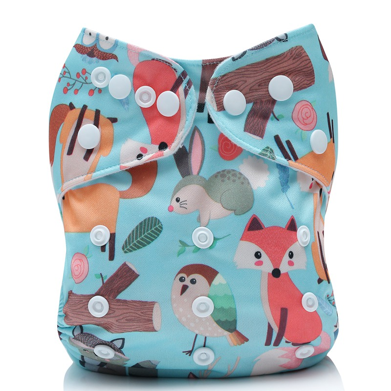 [Mumsbest]2019 Washable Cloth Diaper Pocket Cover Adjustable Nappy Reusable Cloth Diapers Waterproof Available 0-2years 3-15kg
