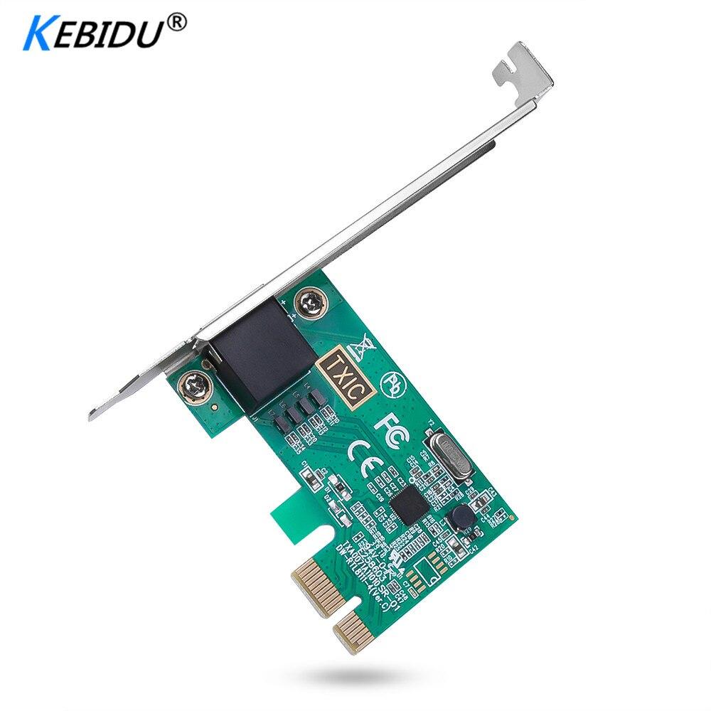 Kebidu Fast PCI Express PCI-E Network Card 1000Mbps Gigabit Ethernet 10/100/1000M RJ-45 LAN Adapter Converter Network Controller