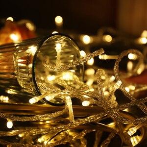 Image 2 - 50M/400 100M/600 LED 요정 LED 문자열 빛 야외 방수 AC220V 휴일 문자열 화환 크리스마스 결혼식 파티