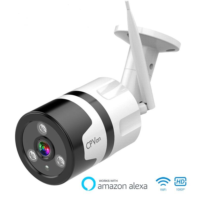 CPVan IP6S IP66 APP Controle À Prova D' Água de Vigilância Ao Ar Livre Câmera IP 1080P Casa de Segurança Câmera de Visão Noturna 2.4G видеокамера