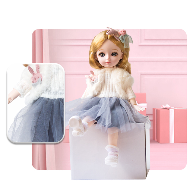 New 1/6 12 Inch 31cm Bjd Doll 23 Joints Long Wig Plastic Toys Musical Doll Girls Children's Favorite Fashion Birthday Presents 4