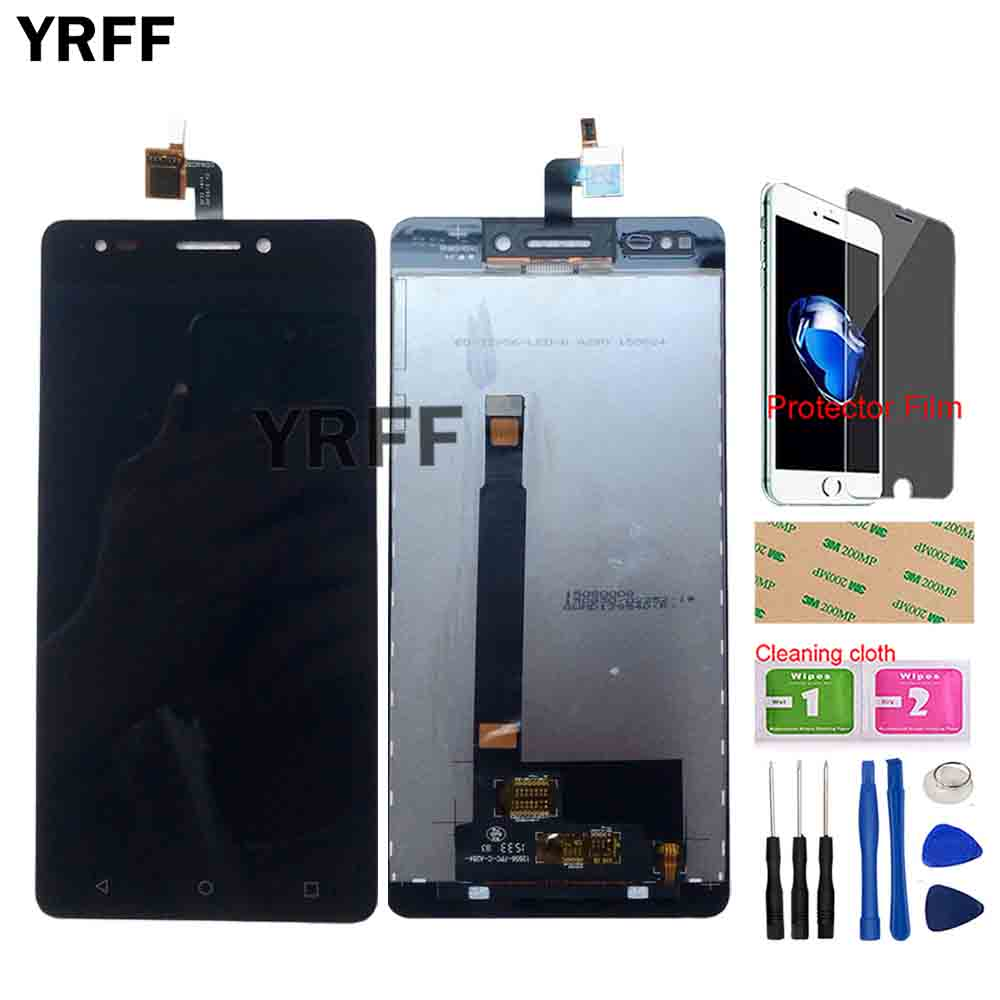Color : Black XIAOMIN LCD Screen and Digitizer Full Assembly for BQ Aquaris C Replacement