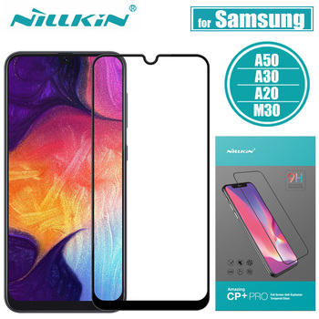 Nillkin para Samsung Galaxy A50 A30 A20 M30 Protector de pantalla de vidrio 2.5D Cristal de protección completa para Samsung A50 A30 m20 templado