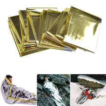 Emergency Blanket Survival Kit Emergency Shelter Thermal Mylar Space Survival Gear Rescue Shelter Outdoor Camping Accessories