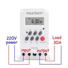 30amp 220V AC MINI Digital TIMER SWITCH 7 วันโปรแกรมรีเลย์จัดส่งฟรี