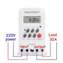 30amp 220V AC MINI Dijital ZAMANLAYıCı ANAHTARı 7 Gün Programlanabilir Zaman Rölesi ÜCRETSIZ KARGO