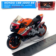 NEWRAY 1/18 Scale Motorbike Model Toys HONDA CBR 1000 RR Repsol Diecast Metal Motorcycle Model Toy For Collection,Gift,Kids стоимость