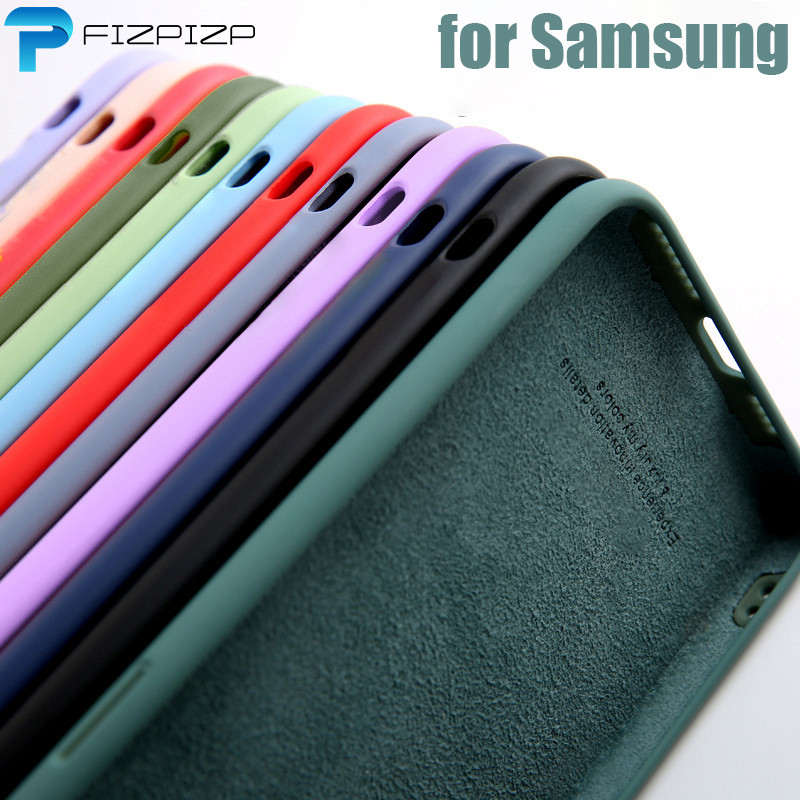 Original Liquid Silicone Case For Samsung Galaxy S10 S10e S20 Ultra S8 S9 Plus Note 10 20 A10 A40 A50 A51 A71 A31 A41 A21S Cover