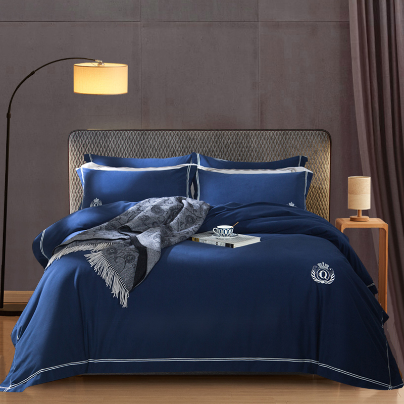 Set Pure Cotton Full Cotton Mill Mao Chuangdan Quilt Cover Exceed Soft Dear Skin Concise Hotel Wind Thickening Bedding Article