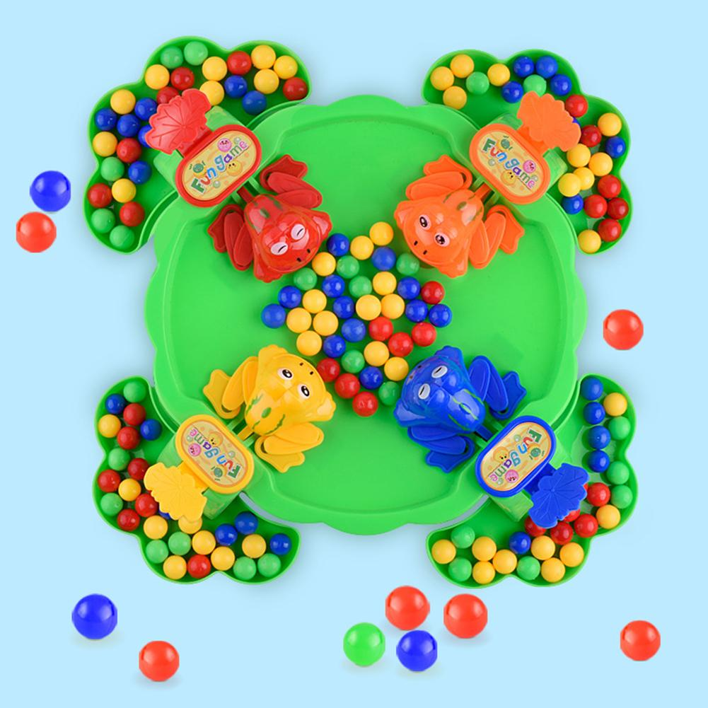Cute Frog Eating Beans Beads Board Table Game Interactive Anti Stress Kids Toy New