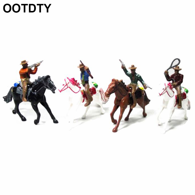1 Piece <font><b>1:100</b></font> Western Cowboy Model Layout HO Scale People <font><b>Figure</b></font> Models Sand Table Toys image