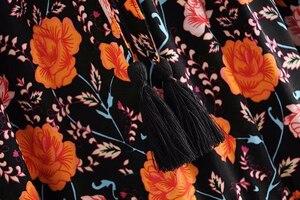 Image 3 - Đầm Sang Trọng Nữ Họa Tiết Bãi Biển Bohemia Váy Nữ Cao Lưng Thun Rayon Chữ A Boho Maxi Váy Femme