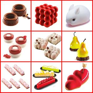 SILIKOLOVE Hot Cake Decorating Moulds Silicone Mold Cake Mold Silicon Baking Tools For