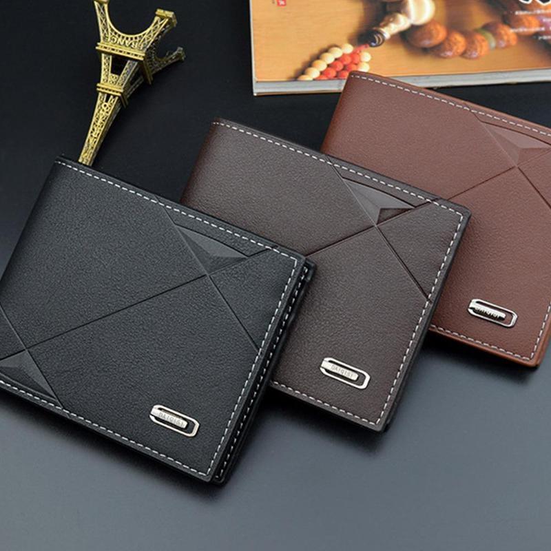 Genuine Leather Luxury Wallets Designer Men Wallets Business Men Bifold Wallet Purse With Coin Pocket