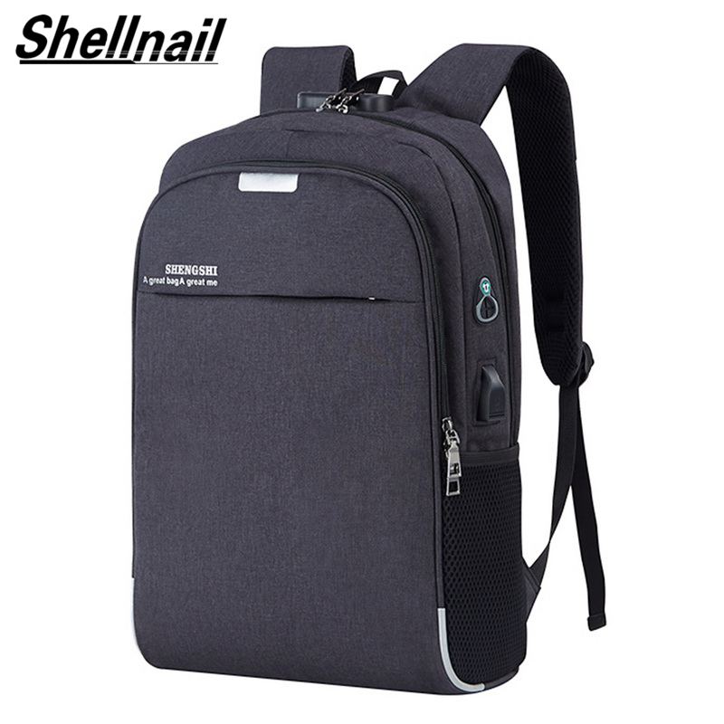 Mochila resistente al agua para ordenador portátil, mochila de viaje, bolso antirrobo multifunción para hombres, mochila de carga USB para Macbook IPAD