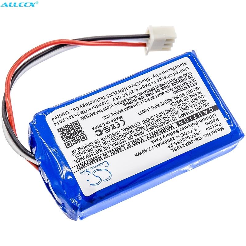 AEC653055-2P аккумулятора Cameron Sino 2000 мАч для JBL Flip 2 (2013), Flip II (2013), пожалуйста, проверьте разъем 3 провода или 5 проводов