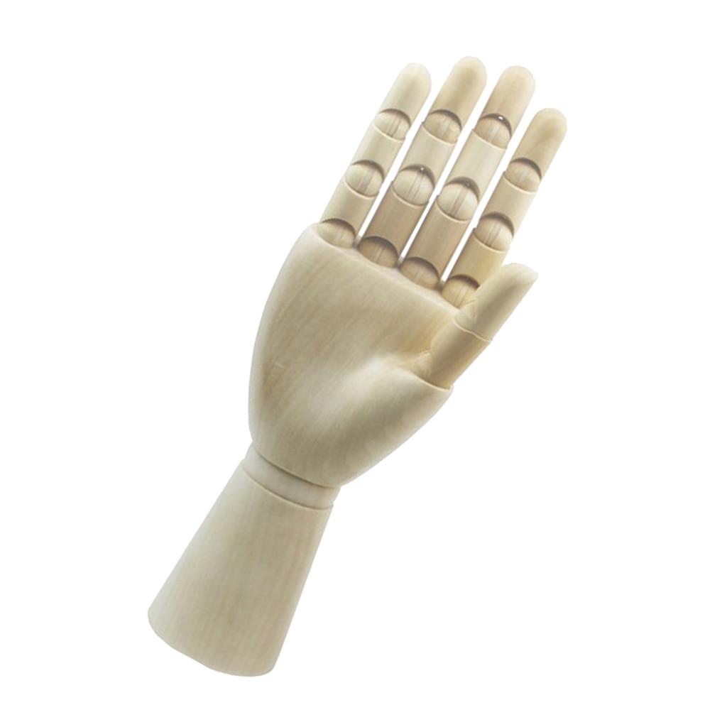 Maniquí articulado de dibujo de artista de madera con dedos flexibles de madera-mano derecha de 7 pulgadas como tamaño de niños o mujeres