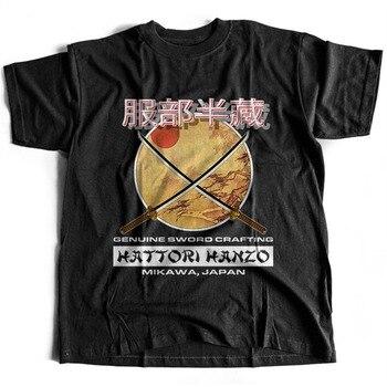 2018 moda gran oferta 9164 Hattori Hanzo camiseta Kill Bill espadas elaboración Pulp Fiction camiseta a prueba de muerte 018932