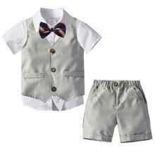 Boys Suits Kids Blazers Wedding-Wear Baby-Boy Formal Children Summer Cotton Clothing