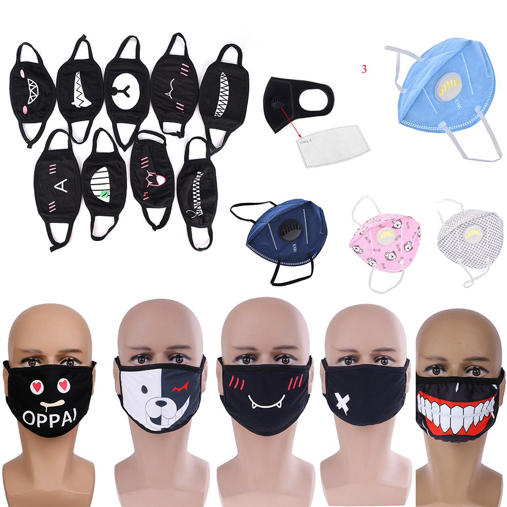 Cartoon Lovely Cotton Masks Respirator Keep Warm Cotton Cute Bear Mask Camouflage Anti Dust Mouth Muffle Respirato Novelty Toy