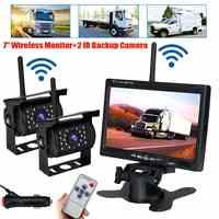 Kit de cámara de visión trasera para coche, cargador de coche para camión, autobús, RV, remolque, Monitor LCD TFT inalámbrico HD de 12V, 24V y 7 pulgadas
