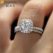 Модные женские кольца для влюбленных модные с кристаллами из
