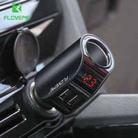 FLOVEME Dual USB Auto Ladegerät Für iPhone Digital Display Zigarette Leichter 5V 3.1A Tablet GPS Adapter Ladegerät Für Xiaomi ladegerät