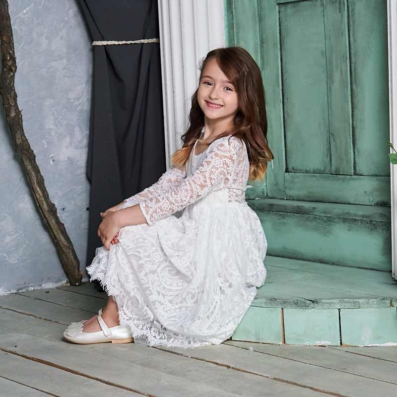 Crianças vestido de princesa para meninas cream laço branco sem mangas vestido de festa alta baixa praia vestido roupas do bebê e17125