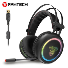 FANTECH Profession Gaming Headset Headphone with backlit Deep Bass Stereo wired computer Headset with Microphone Earphone for PC original ttlife brand gaming wired headset stereo bass noise isolating headphone with microphone for pc computer gamer fone