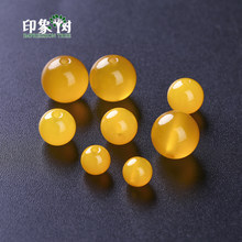 Pick Size 4/6/8/10/12/14mm 1piece Natural Gem Round Yellow Agates Druzy Beads Handmade Bracelet DIY Jewelry Making 2013(China)