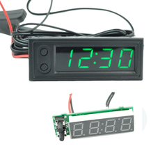 Voltmeter Car-Clock Accurate-Thermometer Digital Display Electronic Mini 3-In-1-Accessories