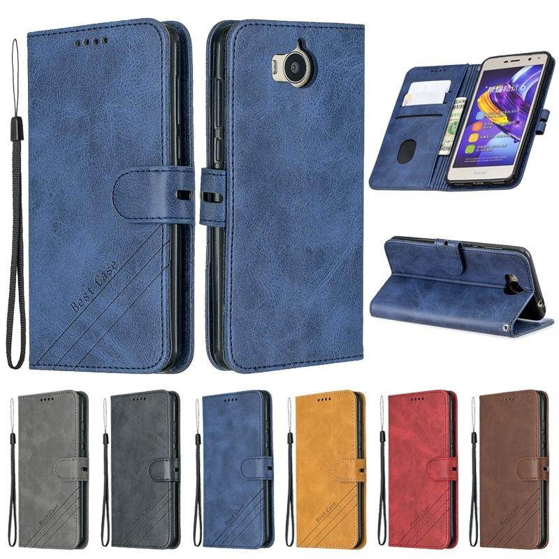 Чехол для Huawei Y5 2017, кожаный флип-чехол для Funda Huawei Y5 Y 5 2017, чехол для телефона Huawei Y6 2017, чехол, роскошный Магнитный чехол-бумажник